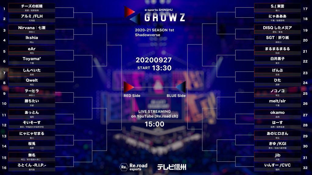 GROWZ1st_Shadowverse_トーナメント表